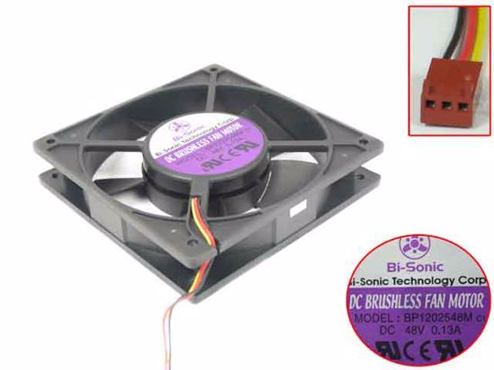 Bi-Sonic BP1202548M DC48V 0.13A 3-wire Server Cooling Fan