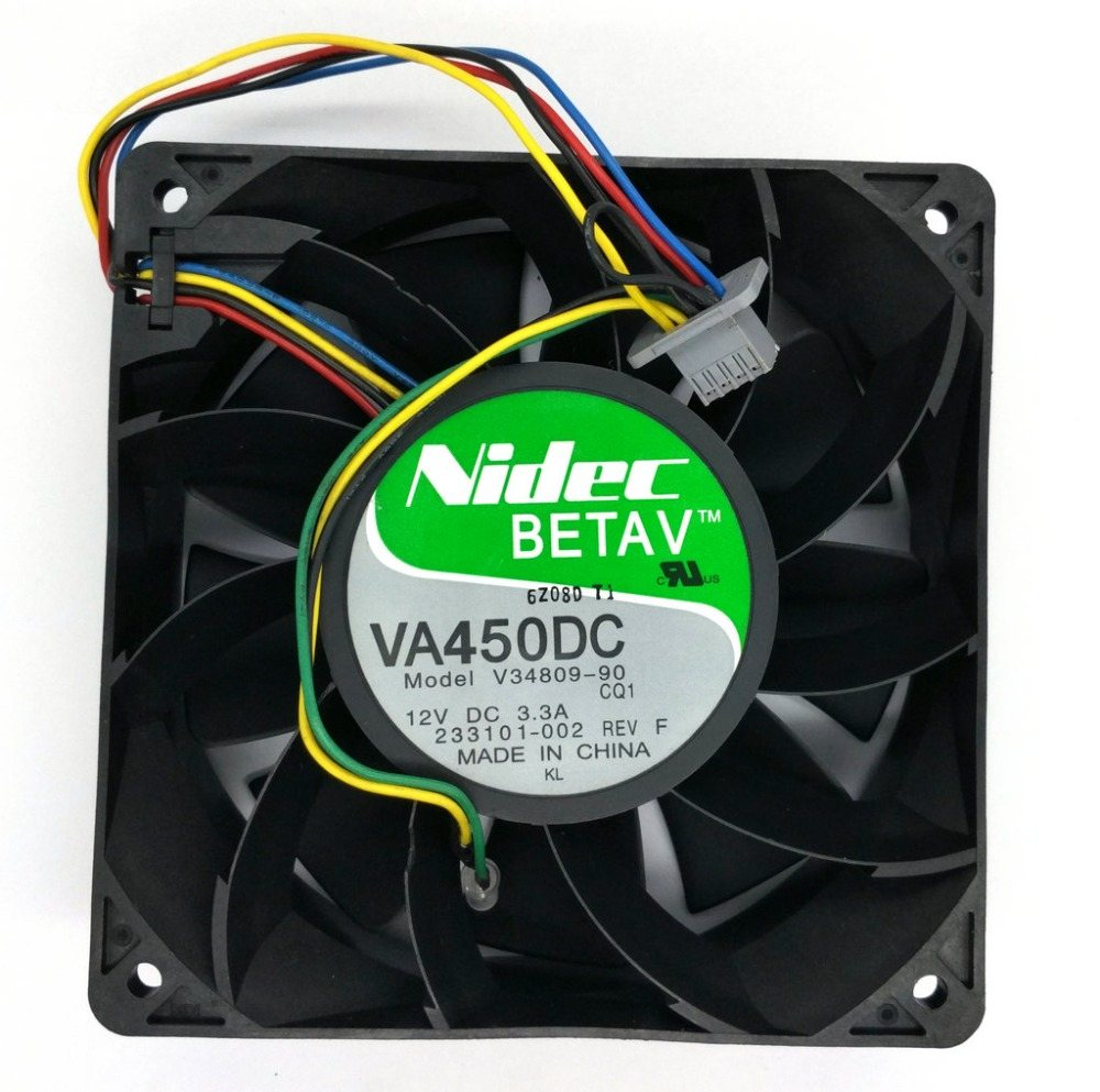 Nidec VA450DC V34809-90 12CM 12V 3.3A violence mining machine Computer Server cooling fan