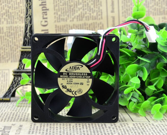 ADDA AD0812XB-A73GP DC12V 0.55A 8CM three line cooling fan