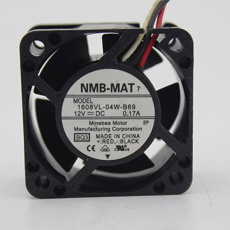 NMB 1608VL-04W-B69 40*40*mm 12VDC 0.17A 3pin cooling fan