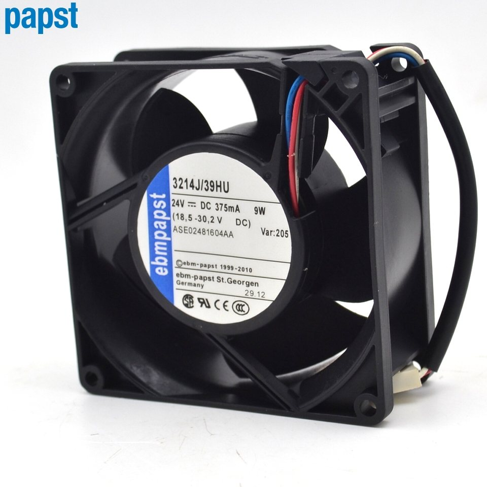 ebmpapst 3214J/39HU DC24V 9W 2-wire Server Square Cooling fan