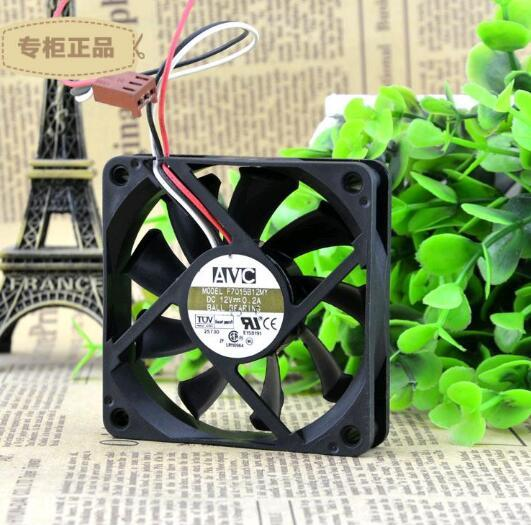 AVC F7015B12MY DC12V 0.2A 70*70*15mm 3-wires double ball bearing cooling fan