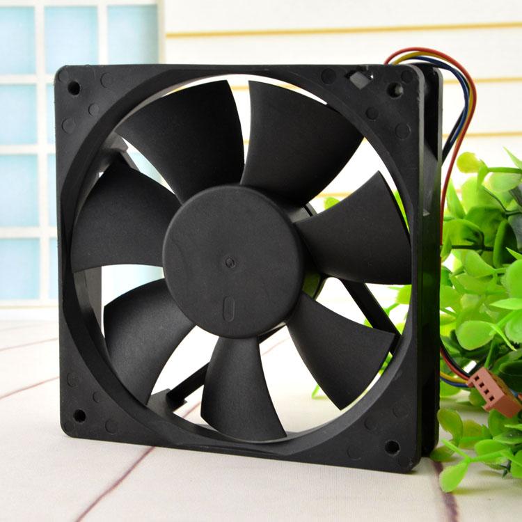 AVC DA12025B12L  DC12V 0.3A 4-Pin Case Cooling Fan