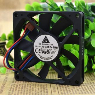Delta AFB0824SHB 8015 DC24V 0.26A 8CM 3-wire Double Ball Bearing Cooling Fan