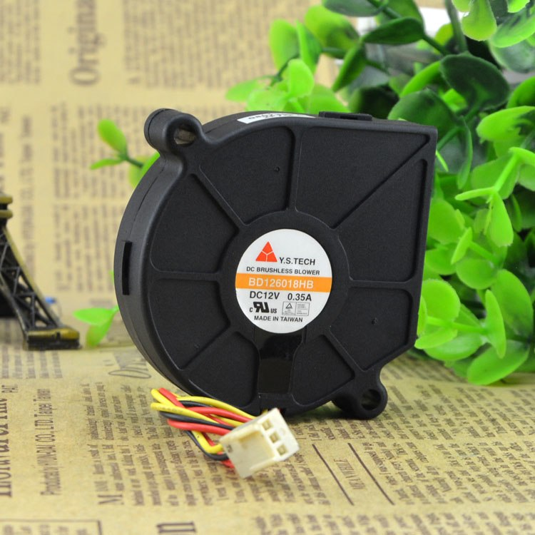 Y.S.TECH BD126018HB DC12V 0.35A Brushless Blower Cooler Cooling Fan