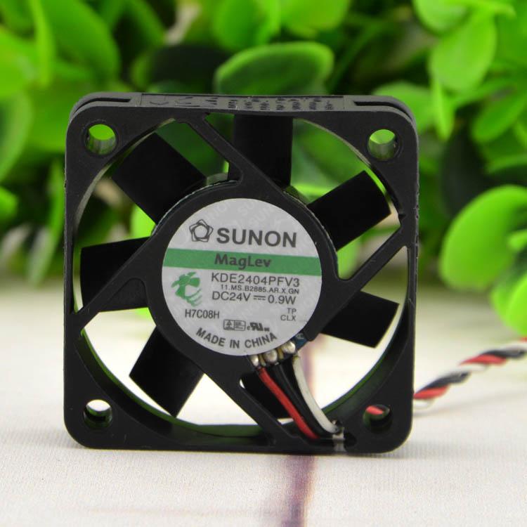 SUNON KDE2404PFV3 24V 0.9W 4CM 3line cooling fan