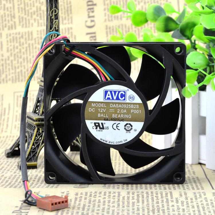 AVC DASA0925B2S 12V 2.0A 9CM 4-wire PWM temperature control fan
