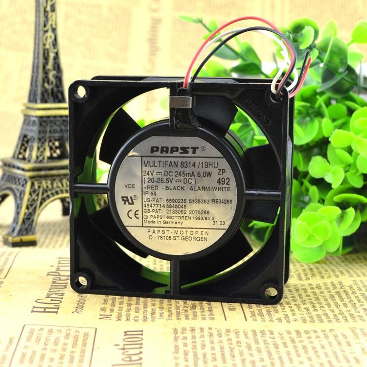 Ebmpapst   8314  24V  2.7W   8032   8CM   cooling    fan