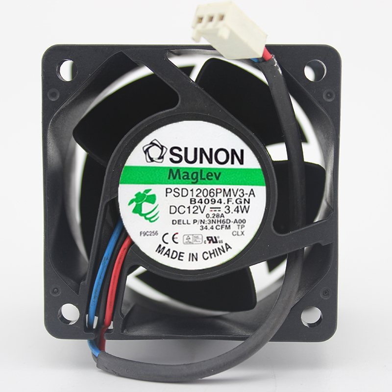 SUNON PSD1206PMV3-A DC12V 3.4W 0.28A 3line Server Cooling Fan