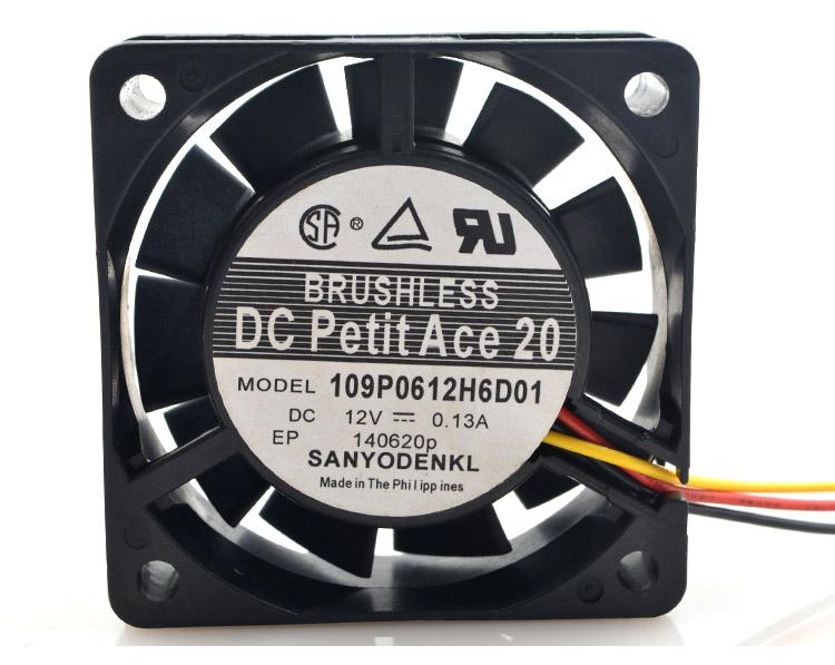 SANYO 109P0612H6D01 12V 0.13A 6CM cooling fan