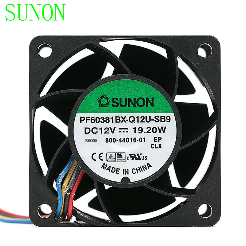 Sunon PF60381BX-Q12U-SB9 DC12V 19.W 1.6A 56DBA powerful axial cooling fan