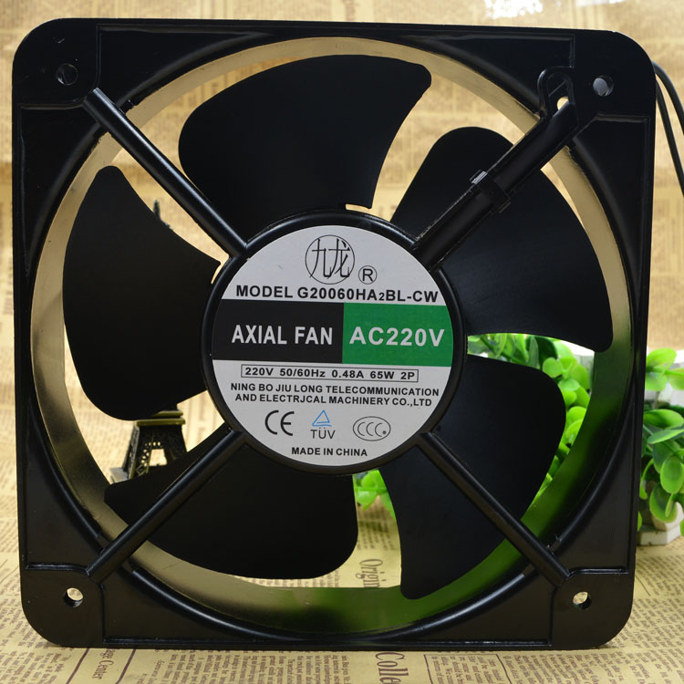 Jiulong G20060HA2BL-CW  AC220V 0.48A 65W AXIAL FAN
