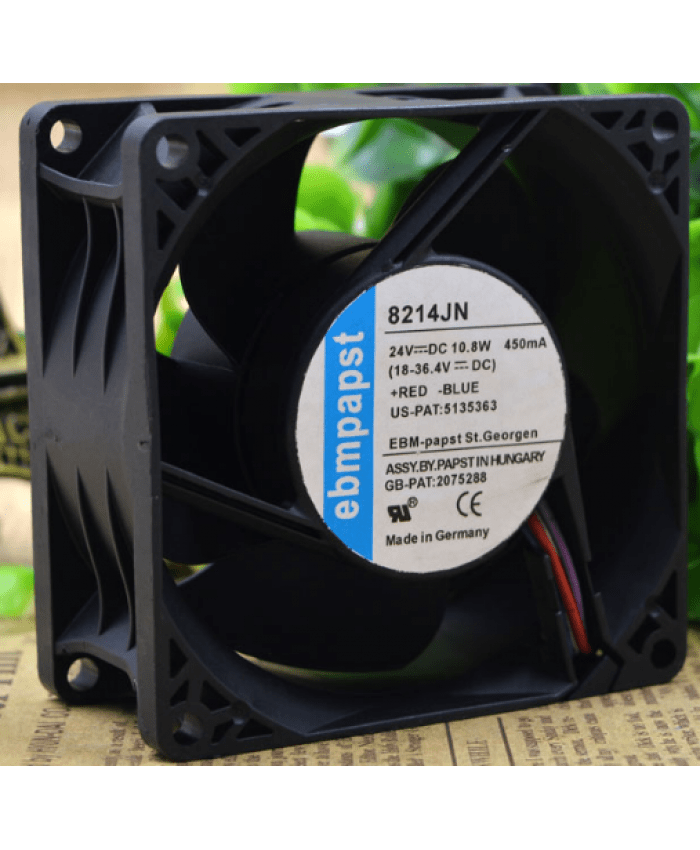 ebmpapst 8214JN 24V 10.8W cooling fan