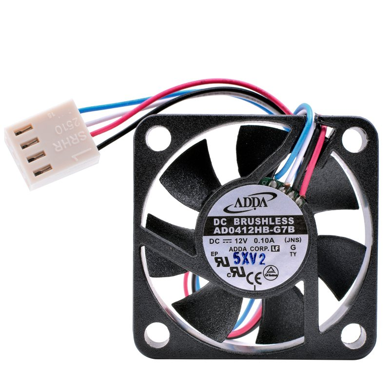 ADDA AD0412HB-G7B DC12V 0.10A 4-wire PWM mini cooling fan
