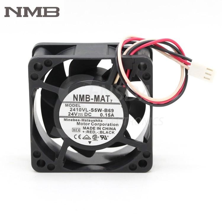 NMB 2410VL-S5W-B69 6CM DC24V 0.15A three-wire waterproof inverter fan