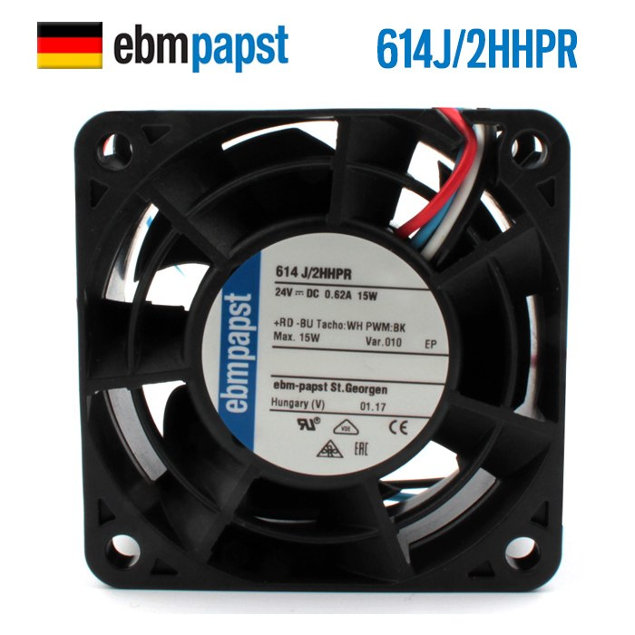 ebmpapst 614J/2HHPR 24V 15W ball bearing cooling fan