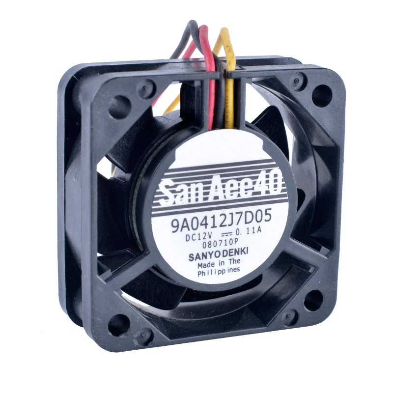 Sanyo 9A0412J7D05 DC12V 0.11A Double ball bearing cooling fan