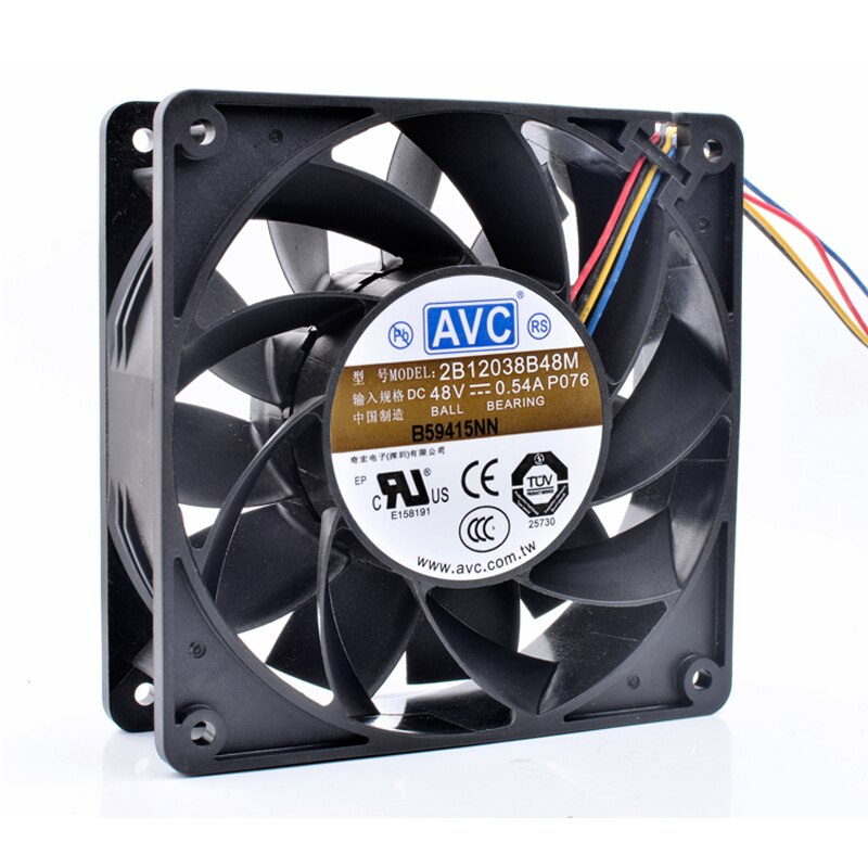 AVC 2B12038B48M DC48V 0.54A 4line server inverter cooling fan