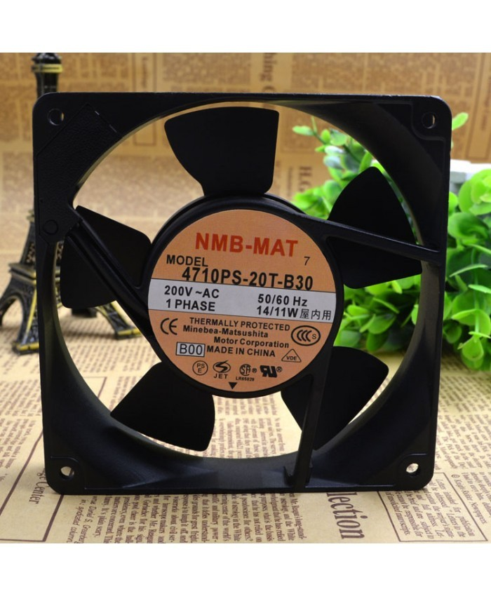 NMB 4710PS-20T-B30 120*120*25MM 200V 14/11W fan