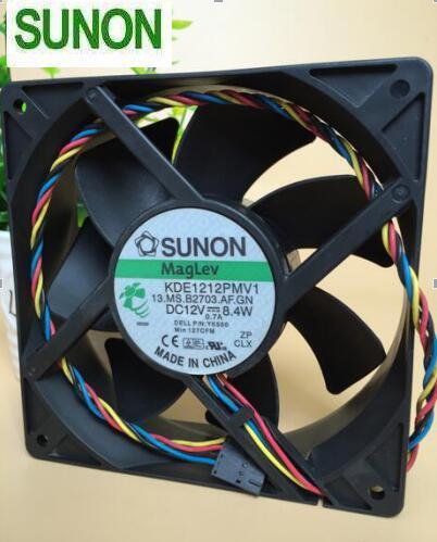 SUNON KDE1212PMV1 12V 8.4W 4-line  Cooling Fan