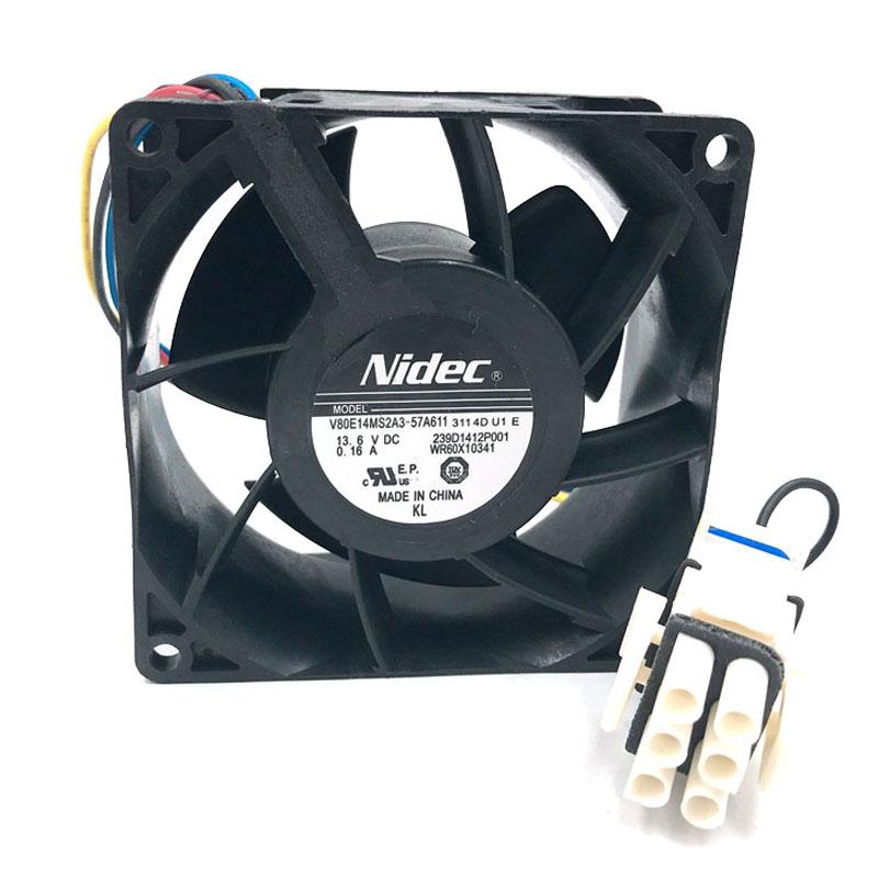 Nidec V80E14MS2A3-57A611 13.6V waterproof cooler cooling fan
