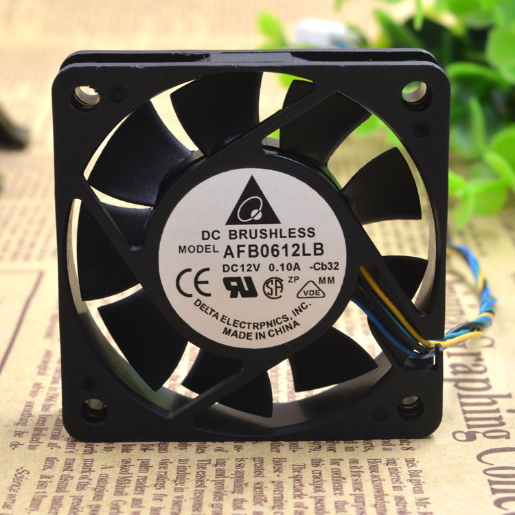 Delta AFB0612LB 12V 0.10A 4-wire PWM temperature control CPU mute cooling fan