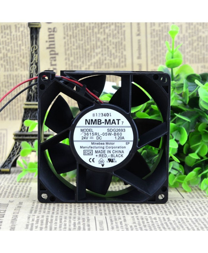 NMB 3615RL-05W-B60 9238 24V 1.2A cooling fan