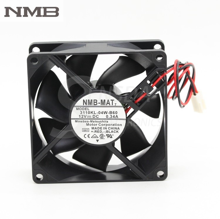 NMB 3110KL-04W-B60 DC12V 0.34A  inverter axial cooling fan