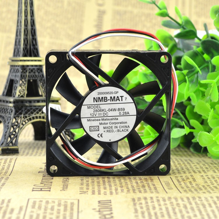 NMB-MAT 2806KL-04W-B59 12V 70x70x15mm cooling fan