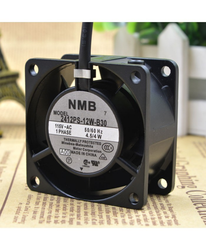 NMB 2412PS-12W-B30 6CM 6028 115V server fan