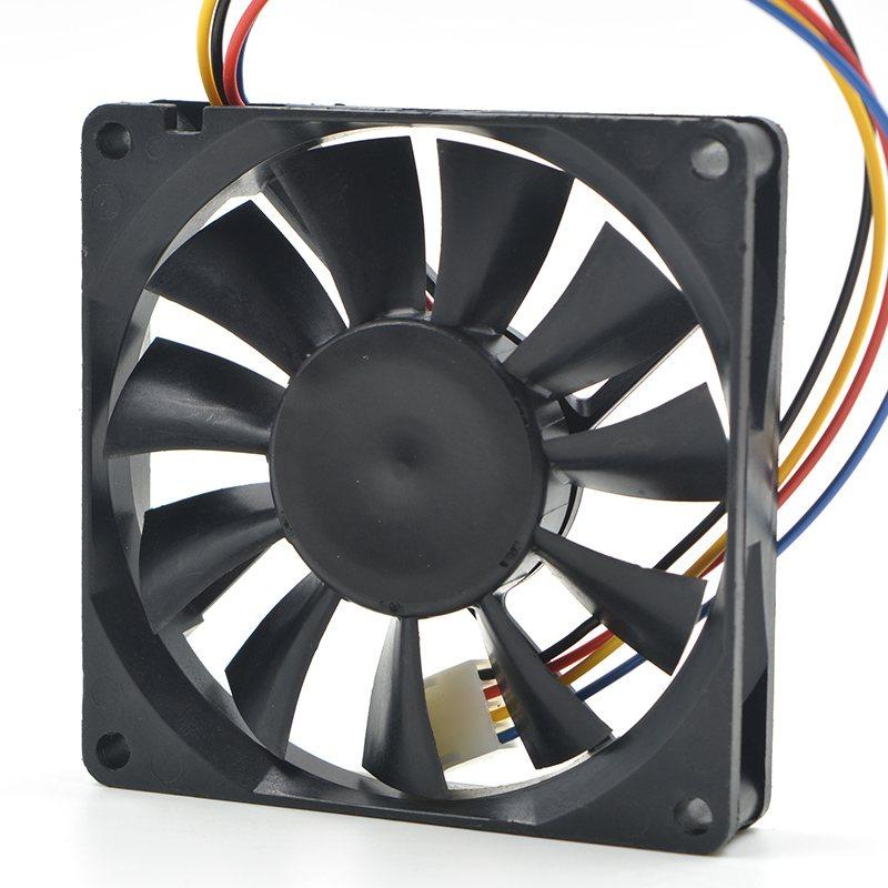 AVC DS08015B12U  8cm DC12V 0.60A PWM cooling fan