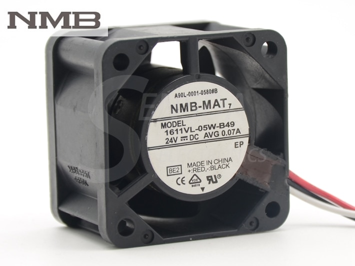 NMB 1611VL-05W-B49 A90L-0001-0580#8 40*40*28mm DC24V AVG 0.07A cooling fan