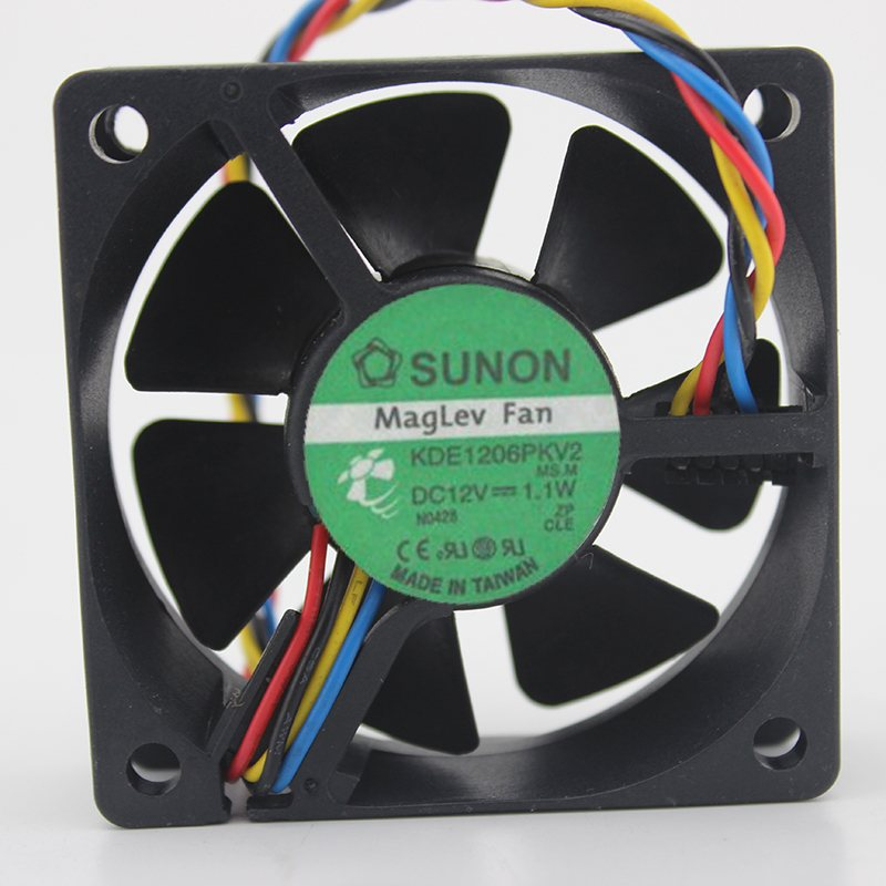 SUNON KDE1206PKV2 12V 1.1W 6CM 3-wire ultra-quiet fan