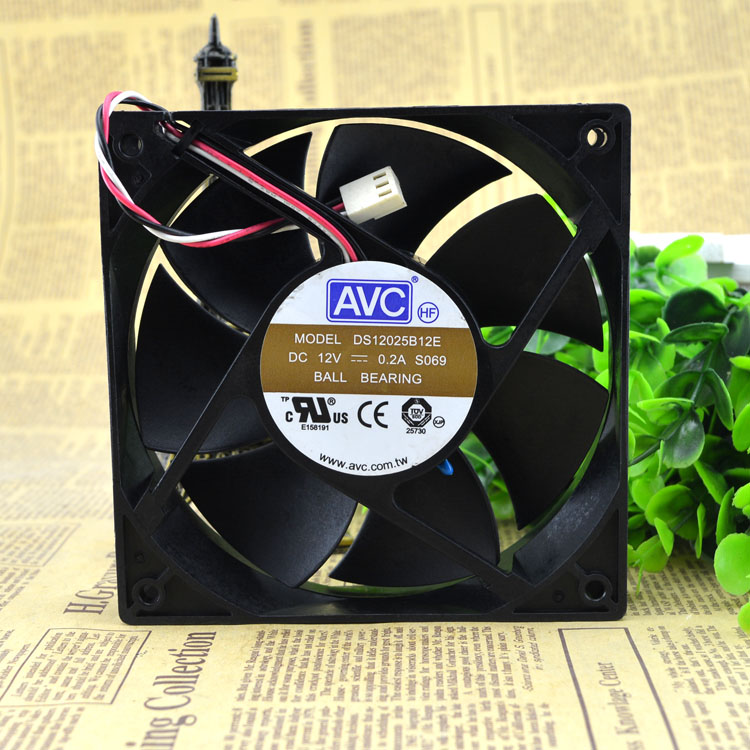 AVC DS12025B12E 120*120*25mm 4-pin  cooling fan