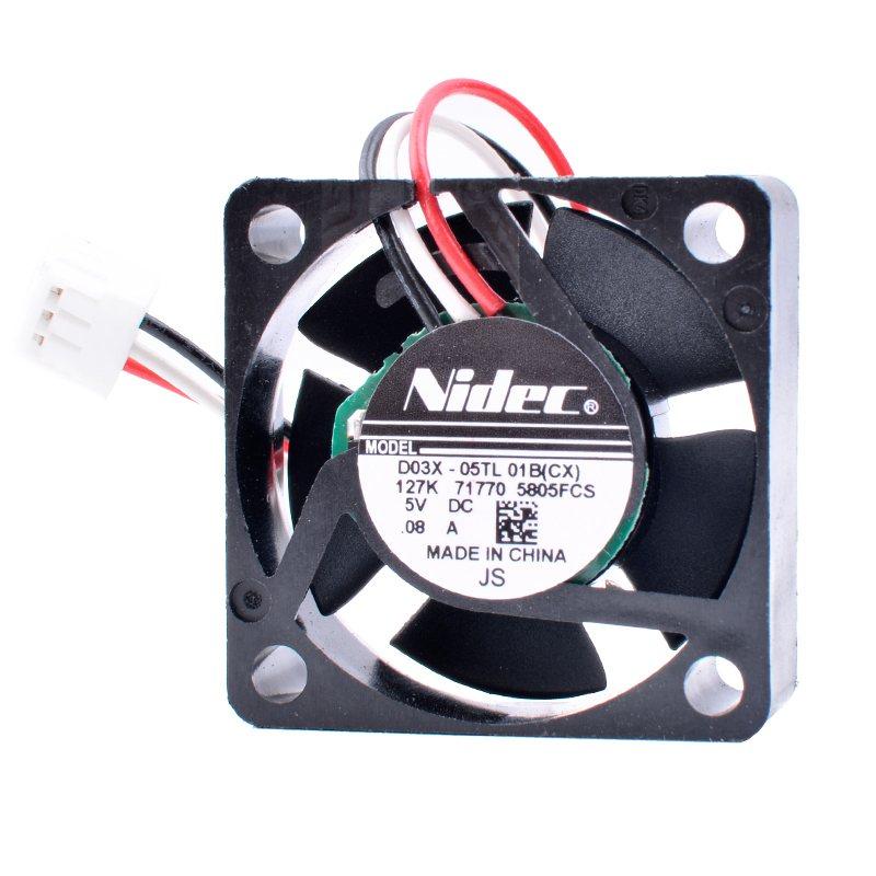 Nidec D03X-05TL 01B 5V 0.08A Router Network Box Small cooling fan