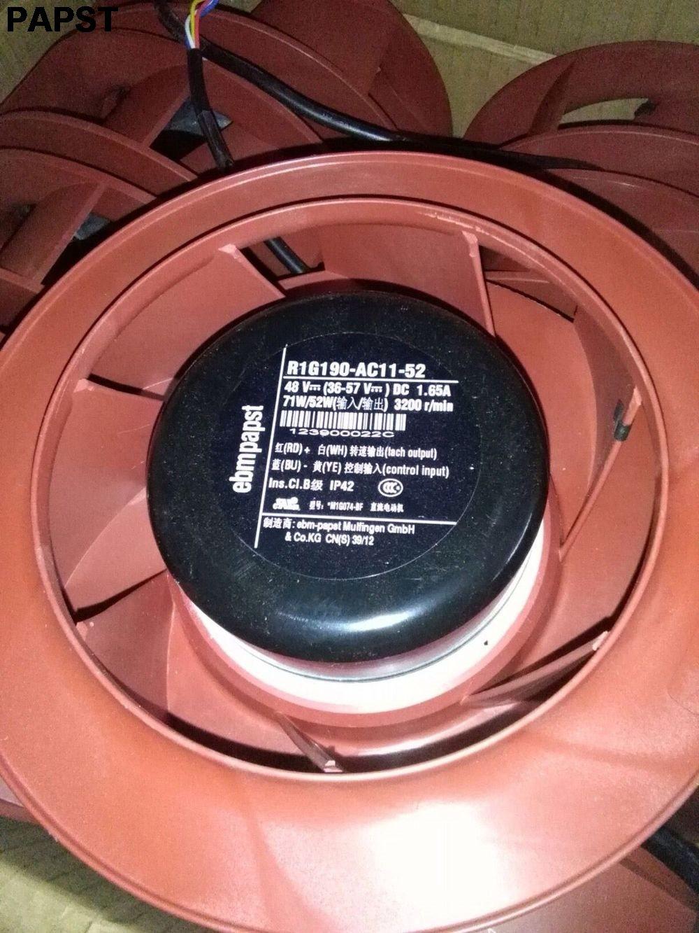 papst R1G190-AC11-52 DC48V 1.65A 3200RPM IP42 Blower