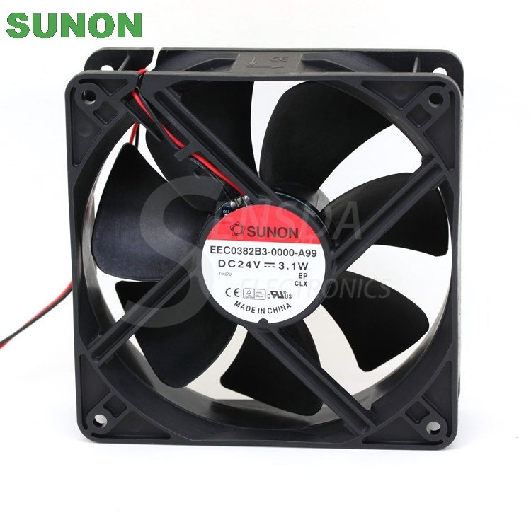 Sunon EEC0382B3-0000-A99 120mm DC24V 3.1A 2-wire server inverter axial cooling fan