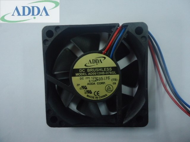 ADDA AD0612HB-D76GL DC12V 6CM 60*60*15mm 60mm DC brushless cooling fan