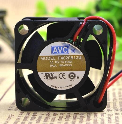 AVC F4020B12U DC12V 0.28A 4CM 2-wire cooling fan