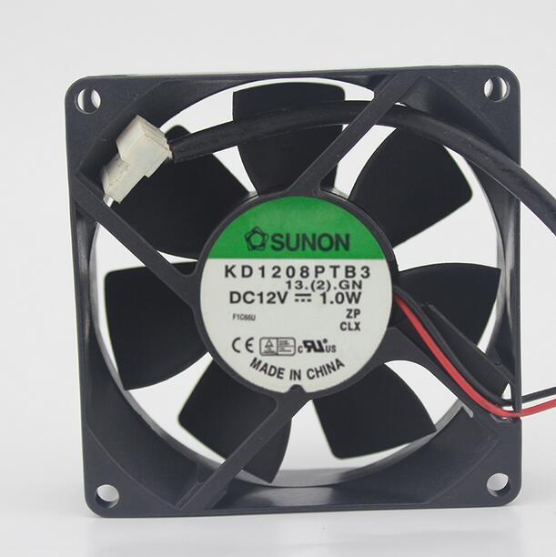 SUNON KD1208PTB3 1.0W   8cm DC12V 2-wire cooling fan