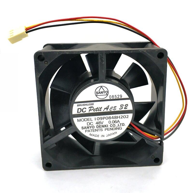 Sanyo 109P0848H202 48V 0.06A 8CM cooling Fan