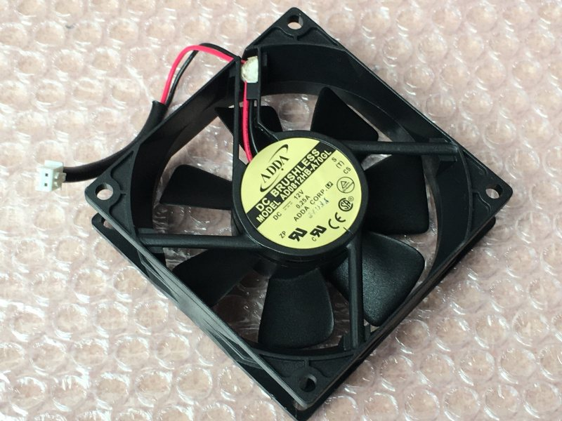 ADDA AD0812HB-A70GL DC12V 0.25A 2-wires dual ball cooling fan