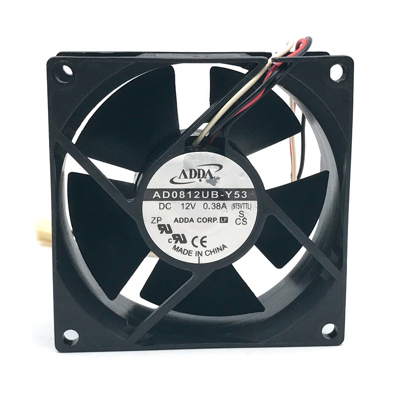 ADDA AD0812UB-Y53  8cm DC12V 0.38A 3-wires  case blower inverter cooling fan