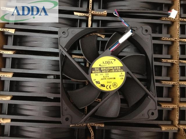 ADDA AD1212HB-A7BGL DC12V 0.37A 4wire PWM  4-wire server cooling fan