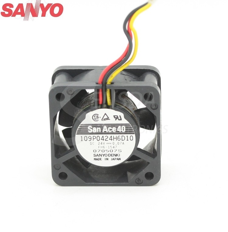 Sanyo 109P0424H6D10 24V 0.07A 40mm  axial cooling fan