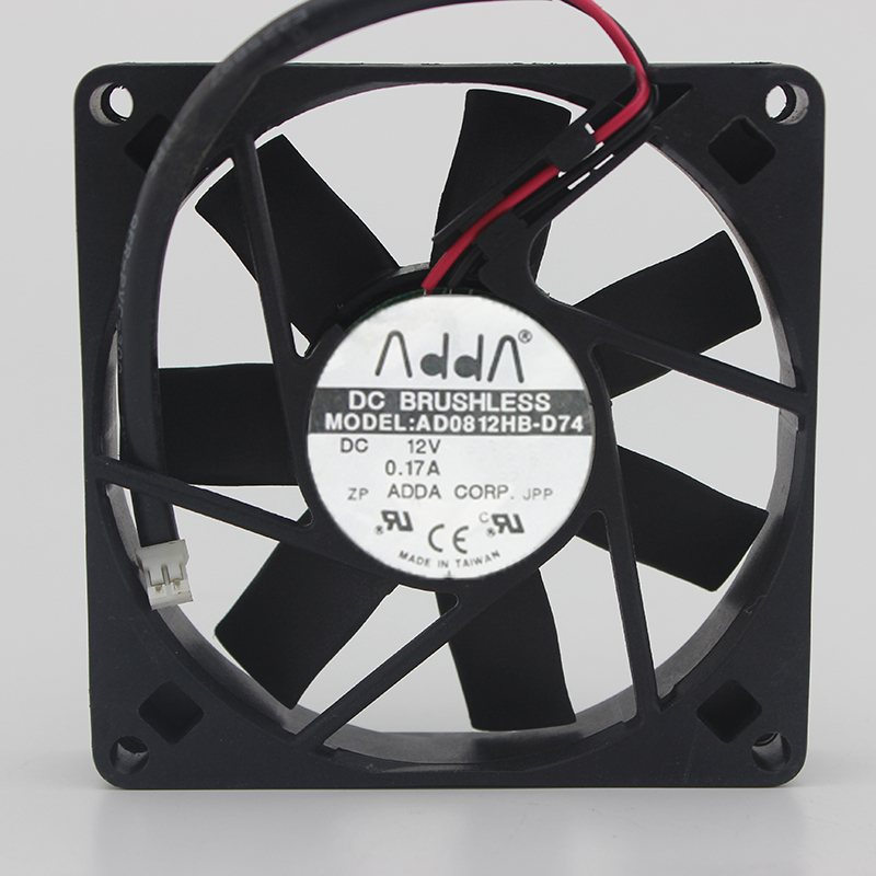 ADDA AD0812HB-D74 12V 0.17A  8CM Chassis Power Supply Fan