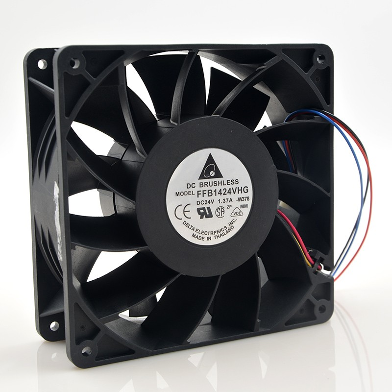 DELTA FFB1424VHG 14050 14CM 24V 1.37A fan case industrial cooling fan three-line wind