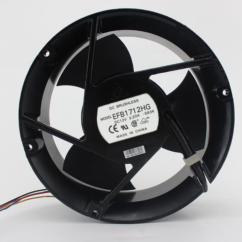 EFB1712HG  17CM 12V 2.A Air volume double ball cooling fan