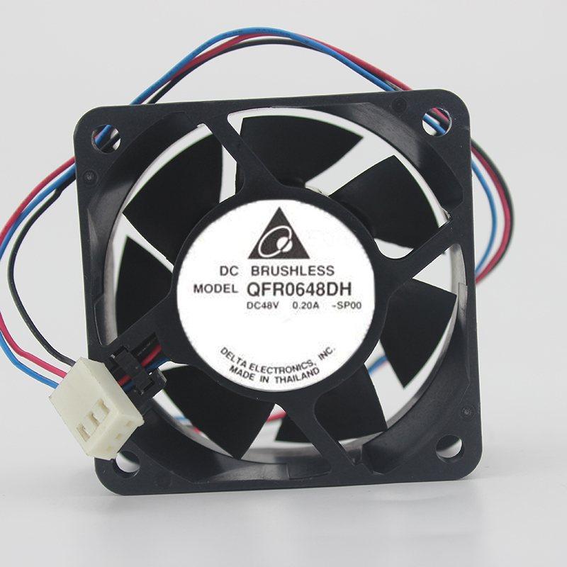 Delta QFR0648DH 48V 0.20A 6CM four-wire PWM cooling fan