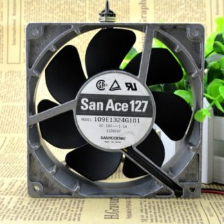SANYO DENKI SAN ACE 109E1324G101 DC 24V 1.1A 3 wire 12.7CM Aluminum frame cooling fan